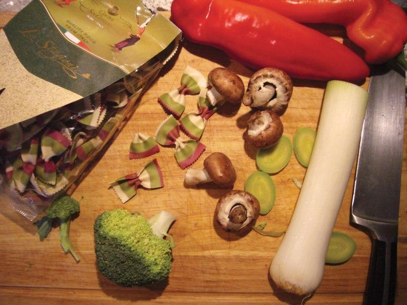 Makaron z warzywami i słodkim ziemniakiem 2